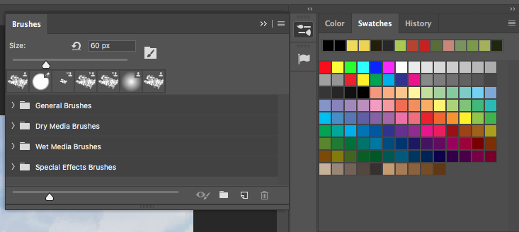 brush tool bar in photoshop