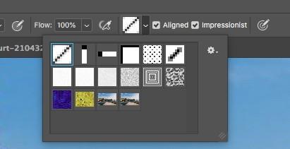 pattern dropdown in photoshop