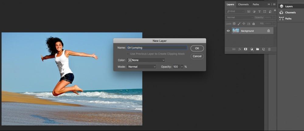 unlocking layer in photoshop