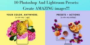 Photoshop And Lightroom presets and actions graphic