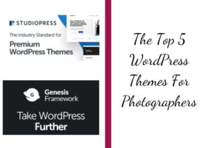WordPress Themes For Photographers graphic