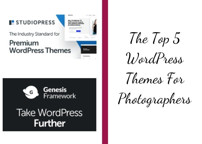 top 5 wordpress themes for photographers graphic