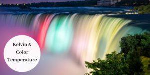 multi colored waterfall