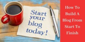 "paper with the words ""start your blog today!"""